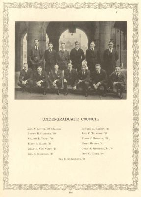The Undergraduate Council, The Record, 1920