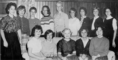 Women's Student Government Association Senate members, group photograph, 1962
