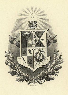 Zeta Psi Fraternity, insignia, 1901