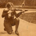 Betty Funston, with rifle, 1928