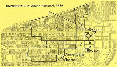University City area renewal map, 1965