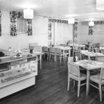 Sergeant Hall, interior, dining room, 1950