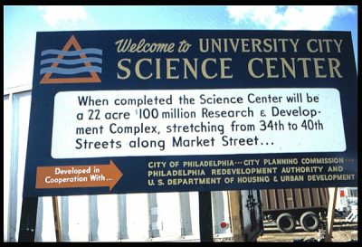 University City Science Center, billboard, 1968