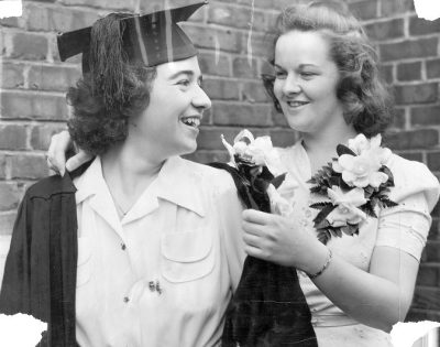 Women's Hey Day, outgoing and incoming presidents of the Women's Student Government Association, 1940