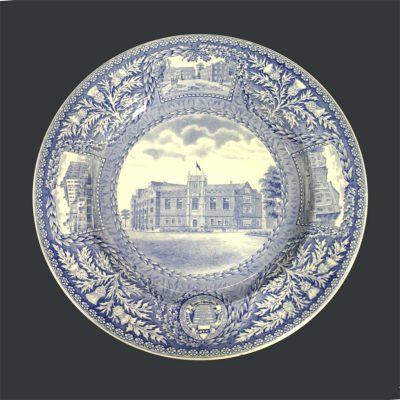 Wedgwood dinner plate, Bennett Hall, 1929