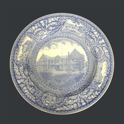 Wedgwood dinner plate, Houston Hall, 1929