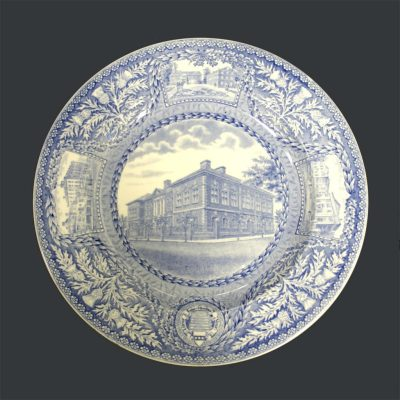 Wedgwood dinner plate, Law School, 1929