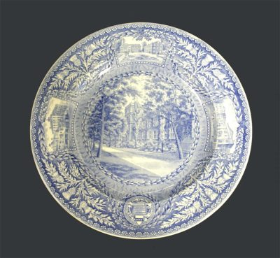 Wedgwood dinner plate, Medical School, 1929
