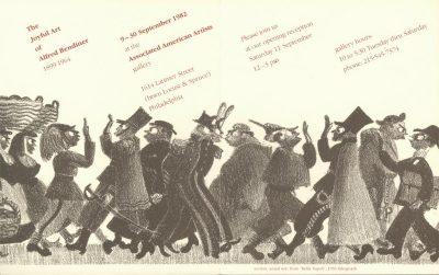 The Joyful Art of Alfred Bendiner 1899-1964, brochure, 1982