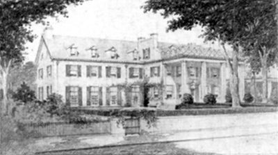 Provost's House, architectural rendering of proposed changes, c. 1920