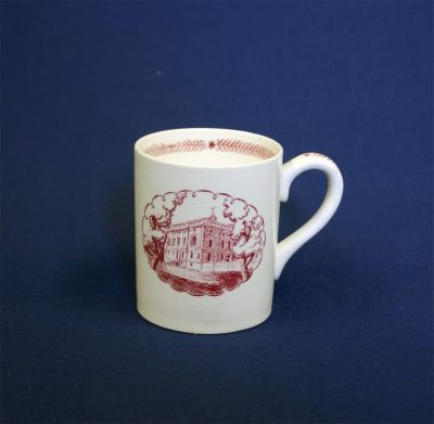 Wedgwood china, cup depicting Presidential Mansion (Ninth Street Campus), 1940
