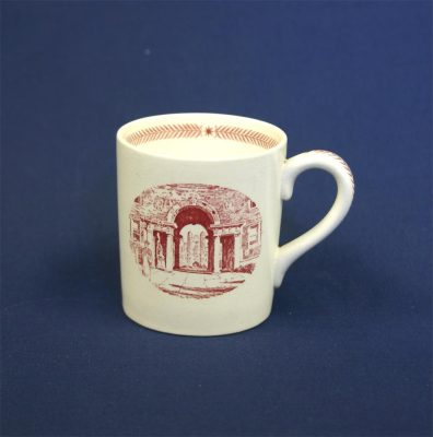 Wedgwood china, cup depicting Provosts Tower, 1940