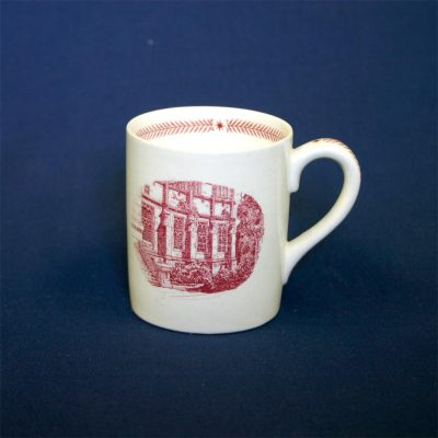 Wedgwood china, cup depicting University Library, 1940