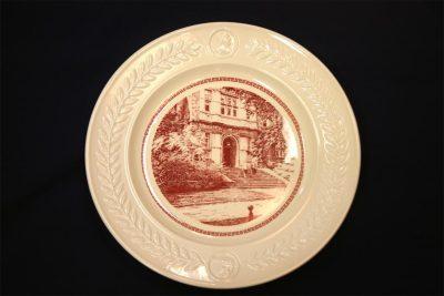 Wedgwood china, plate depicting Medical Laboratory Entrance, 1940