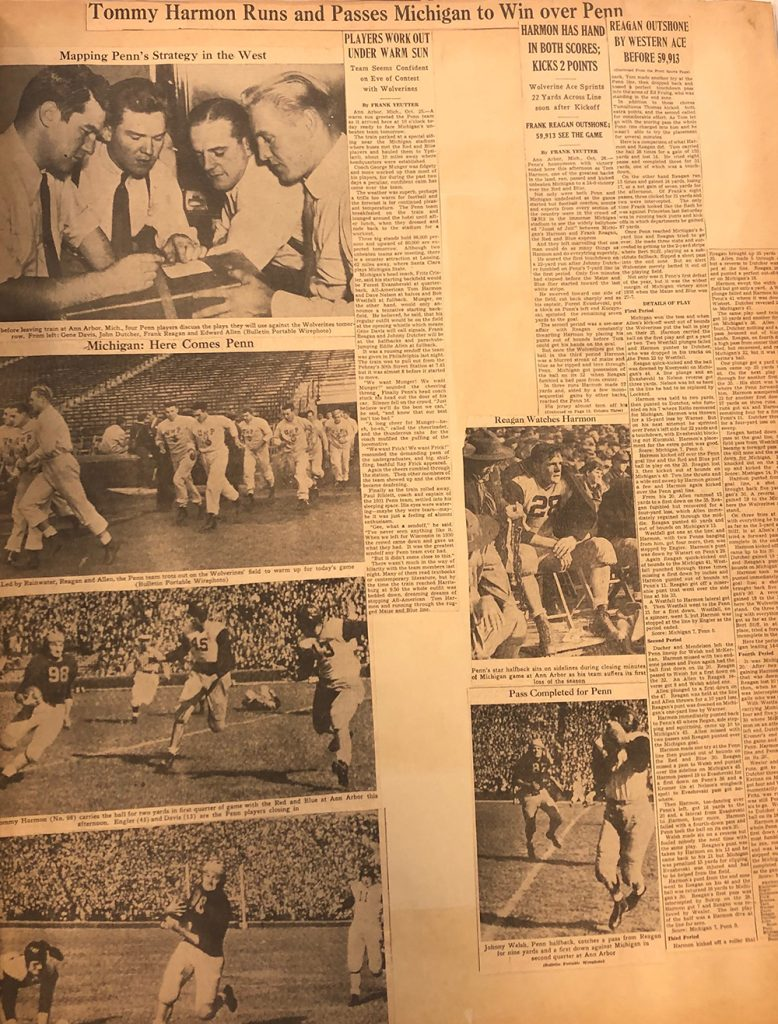 Page from football scrapbook, c. 1940