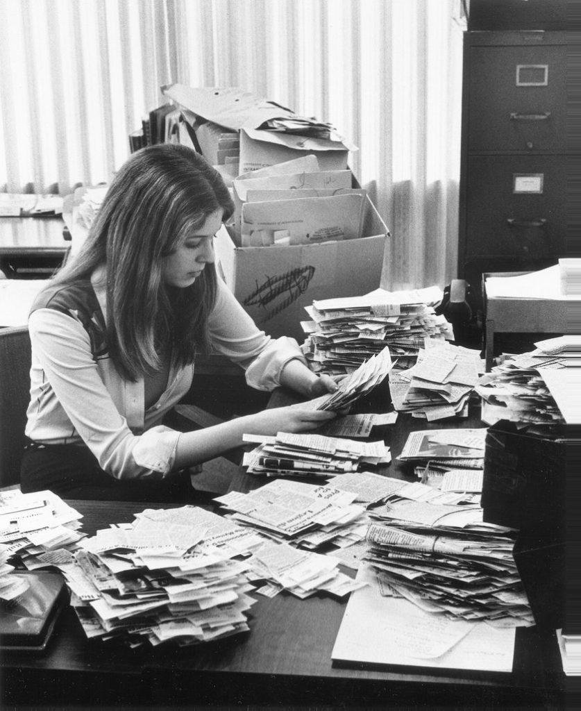 News bureau interior, 1977