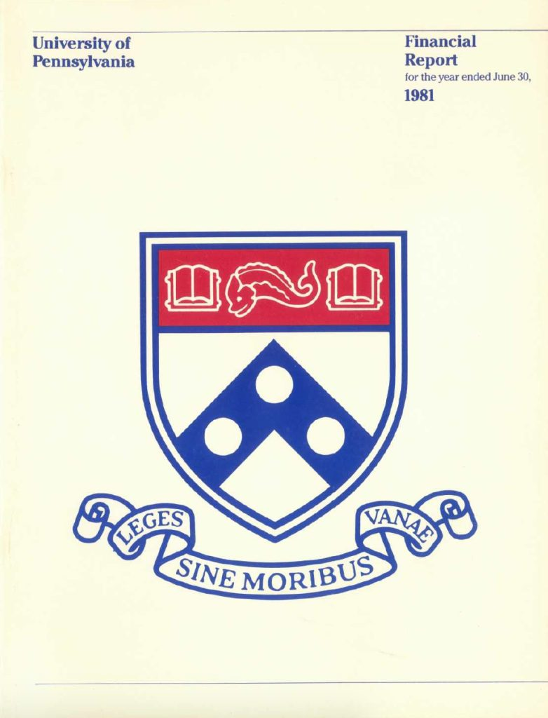 1981 Financial Report, cover