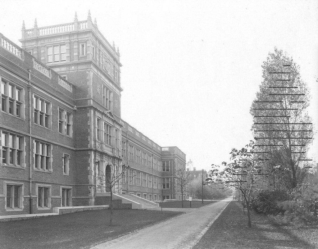 John Morgan Building, formerly known as the Medical Laboratories, exterior, 1904